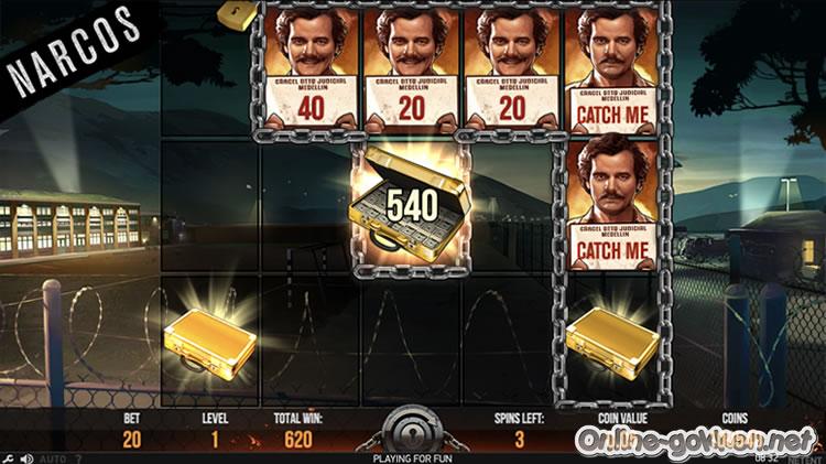 narcos bonusspel