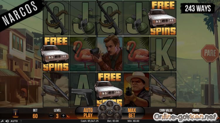 narcos free spins